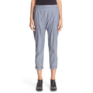The Great Harem Blue Chambray Skinny Pants 1
